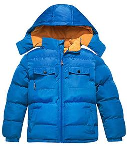 Wantdo Boy's Quilted Padded Winter Coat Thick Warm Jacket wi