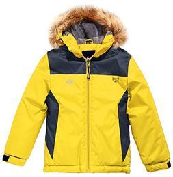 Wantdo Boy's Snowboard Fleece Hooded Ski Jacket Winter Coat