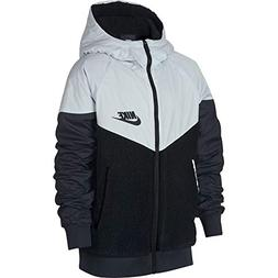 NIKE Boy's Sportswear Windrunner Sherpa Jacket Black/Pure Pl