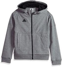 adidas Boys' Big Athletics Jacket, Charcoal Grey Heather, L