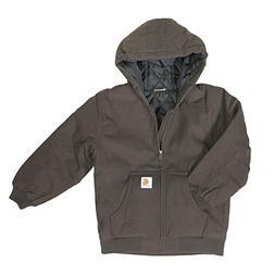 Carhartt Boys' Big Quilt Lined Work Active Jacket, Dark Brow
