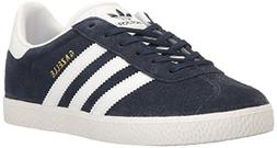 adidas Originals Boys' Gazelle J Sneaker, Collegiate Navy Wh