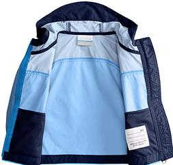 Columbia Boys' Glennaker Rain Jacket  Hyper Blue/Black Size: