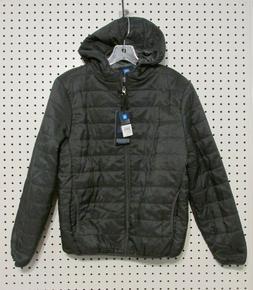 Swiss Cross Boys' Hooded Packable Puffer Jacket - Size Large