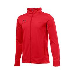 Under Armour Boys' Pennant Warm Up Jacket, Red/Black, Youth