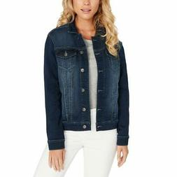 Buffalo David Bitton Womens Knit Denim Jacket