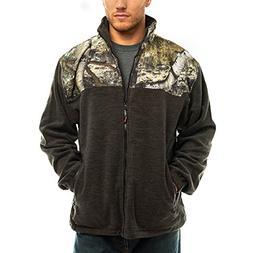 TrailCrest Men's C-Max Full Zip Polar Fleece Jacket, Mossy O