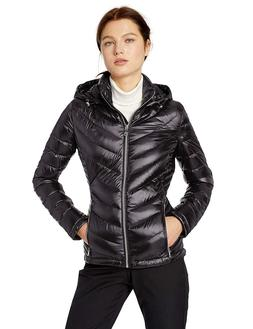 Calvin Klein Women's Short Packable Down Jacket with Hood Zi