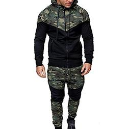 Men Camouflage Sports Coat,TurningPo,Men's Autumn Winter Swe