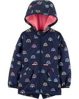 Carter's Girls Navy Rainbow Fleece Lined Jacket Size 2T 3T 4