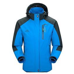 Men Casual Hooded Rain Jacket-Diamond Candy lightweight Wate