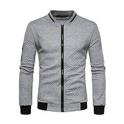 Pdbokew Men's Casual Slim Fit Long Sleeve T-Shirt Zipper Swe