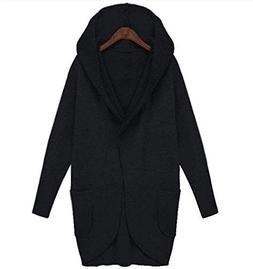 Cheryl Bull Trendy Loose Sweat Coat Hood Pocket Windbreaker