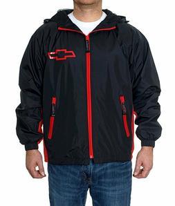 Chevrolet Racing Hooded Rain Jacket WindBreaker Adult Chevy