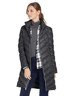 Calvin Klein Women's Chevron Packable Down Coat, Black, Smal