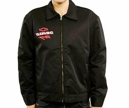 chevy chevrolet racing mechanics jacket black polyester