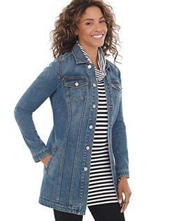 Chico's Women's Elongated Denim Jacket Size 4/6 S  Denim