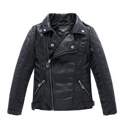 LJYH Children's Collar Motorcycle Faux Leather Coat Boys Lea