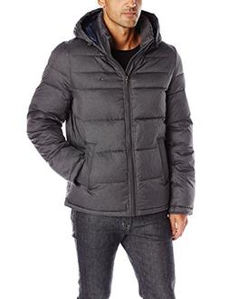 Tommy Hilfiger Men's Classic Hooded Puffer Jacket, Heather C
