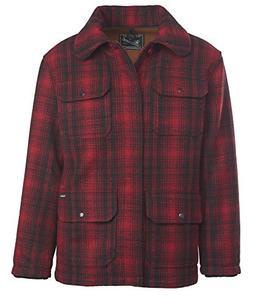 Woolrich Men's Classic Hunt Coat, Red Black Plaid, XX-Large