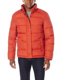 Tommy Hilfiger Men's Classic Puffer Jacket, Burnt Orange, La