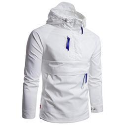 GREFER Clearance New Men Fashion Thin Windbreaker Jacket Zip