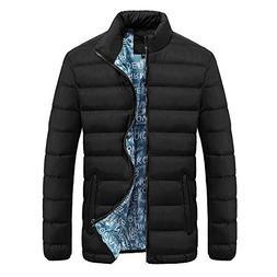 Muranba Clearance Men Stand Zipper Warm Winter Thick Coat Ja