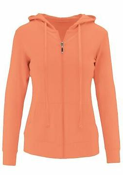 ClothingAve. Womens Lightweight Long Sleeve Zip-Up Hoodie Ja