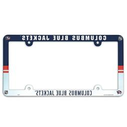 "COLUMBUS BLUE JACKETS 6""x12"" LICENSE PLATE FRAME BRAND NEW W"