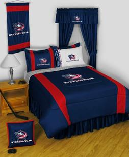 Columbus Blue Jackets FULL Size 14 Pc Bedding Set  - SAVE BI