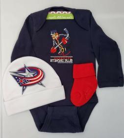 Columbus Blue Jackets infant/baby boy outfit Blue Jackets ba