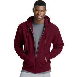 Hanes Men's ComfortBlend Full-Zip Hood 7.8 oz., 3XL-Maroon