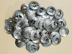 CONCHOS Lot of 100 SLOTTED one inch VINTAGE SCALLOPED WESTER