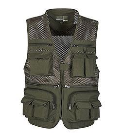 Cool Mesh Fisherman Vest Photographer Vest Waistcoat ARMY GR
