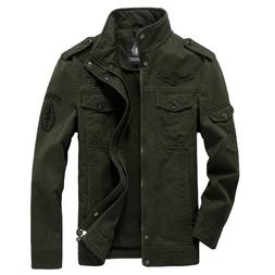 Cotton Military <font><b>Jacket</b></font> Men 2019 Autumn S