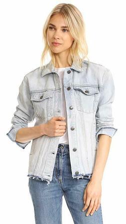 Current/Elliott Women's Vintage Boyfriend Trucker Jacket in