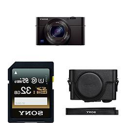 Sony Cyber-Shot DSC-RX100 IV Digital Camera + Sony LCJRXF/B