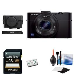 Sony Cyber-Shot DSC-RX100M2/B Digital Camera + Sony LCJRXF/B