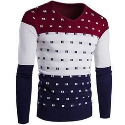 Cyose Fashion 5 Colors Striped Sweater Men Warm Long Sleeve