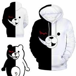 Danganronpa Monokuma Black & White Bear Unisex Jacket Sweate