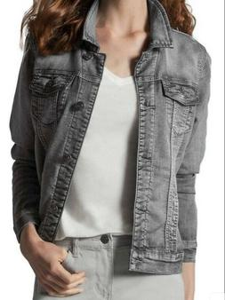 Buffalo David Bitton Women's Knit Denim Stretch Jacket Gray