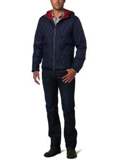Victorinox Men's Davos Quilted Hooded Jacket, Signature Blue