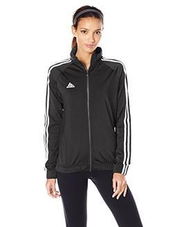 adidas Women's Designed-2-Move Track Jacket, Black/White, XX