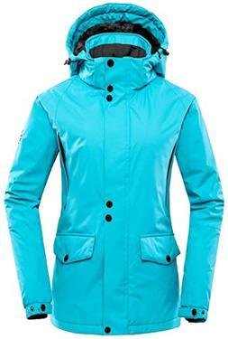 Wantdo Women's Detachable Hood Waterproof Outdoor Fleece Par