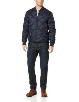 Men's Dickies Diamond Quilted Nylon Jacket, Dark Navy, XL