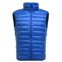 down puffer vest for men with zipper