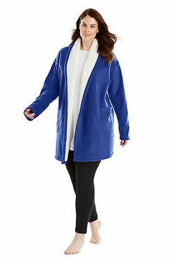 Dreams & Co. Women's Plus Size Sherpa Lined Collar Microflee