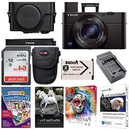 Sony DSC-RX100M3/B RX100 III Cyber-shot Digital Camera w/ Pr