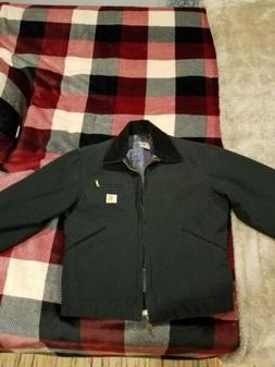 Carhartt Duck Detroit Blanket-Lined Jacket Black - Small -