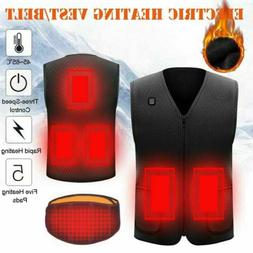 Electric Heated Vest Jacket USB Thermal Warm Up Heating Pad